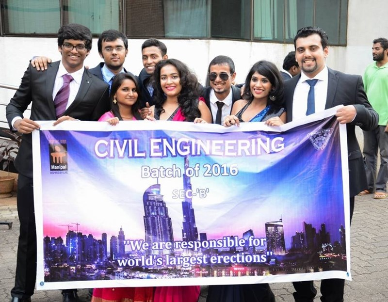 """Smile - CIVIL ENGINEERING Batch of 2016 www Manipal OPRED BY LE SEC-B' """"We are responsible for world's largest erections'"""