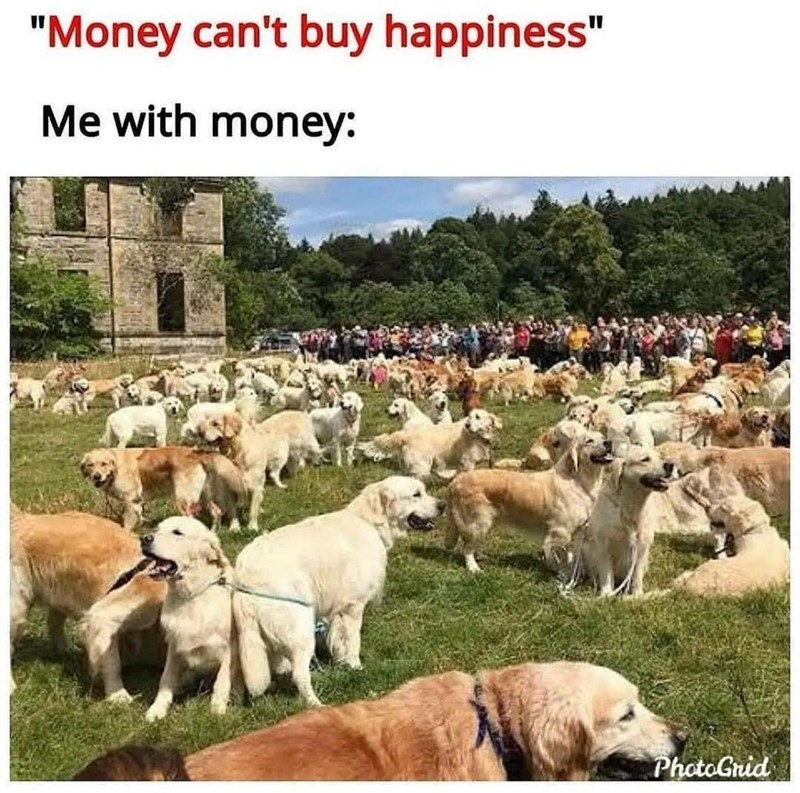"""Ecoregion - """"Money can't buy happiness"""" Me with money: PhotoGrid"""