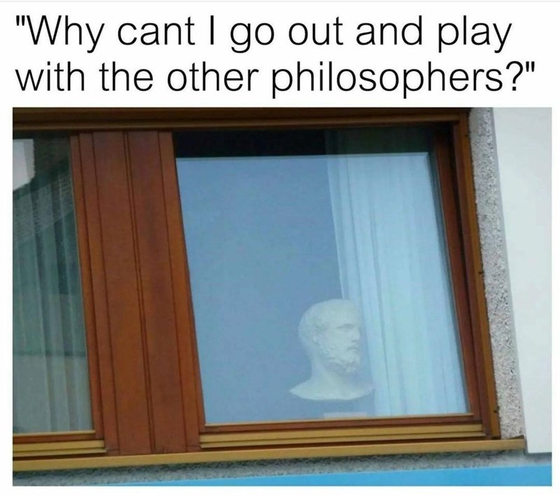 """Rectangle - """"Why cant I go out and play with the other philosophers?"""""""