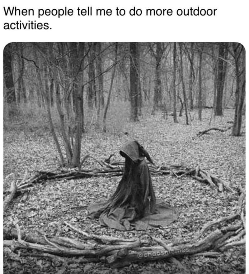 Plant - When people tell me to do more outdoor activities. @chaoshictmes