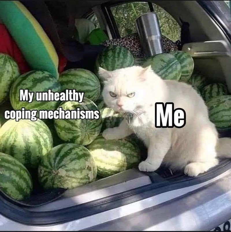 Food - My unhealthy coping mechanisms Me