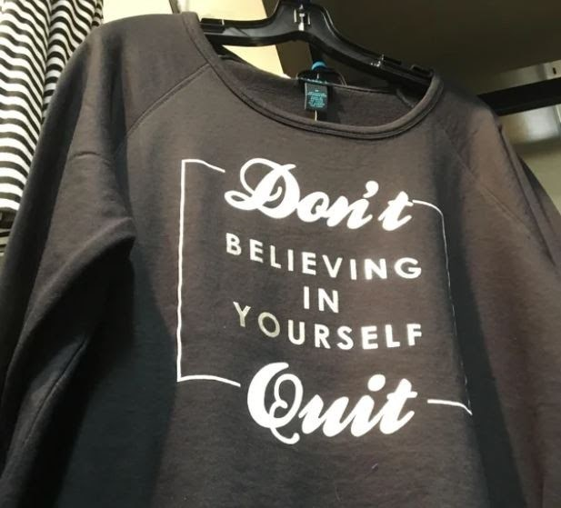 Neck - Dont BELIEVING IN YOURSELF Quit-
