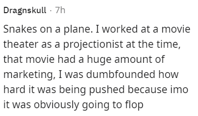 Font - Dragnskull - 7h Snakes on a plane. I worked at a movie theater as a projectionist at the time, that movie had a huge amount of marketing, I was dumbfounded how hard it was being pushed because imo it was obviously going to flop