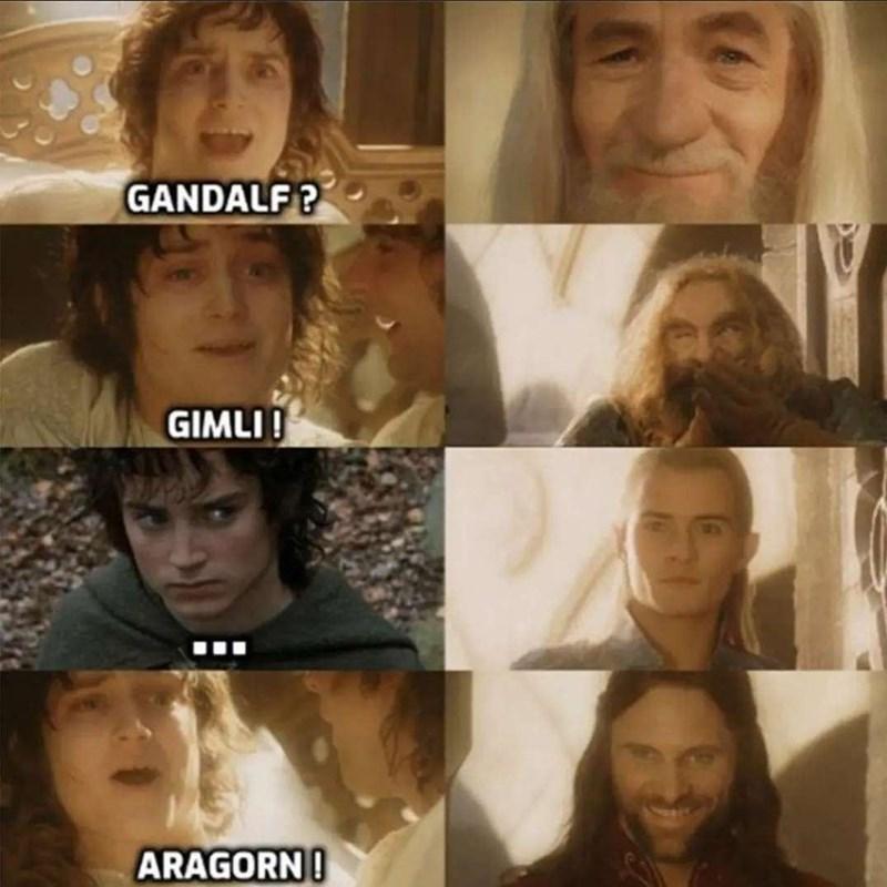 Forehead - GANDALF? GIMLI ! ARAGORN!