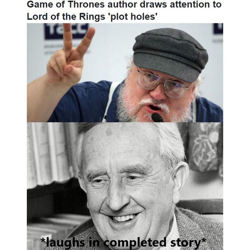 Forehead - Game of Thrones author draws attention to Lord of the Rings 'plot holes' *laughs in completed story*