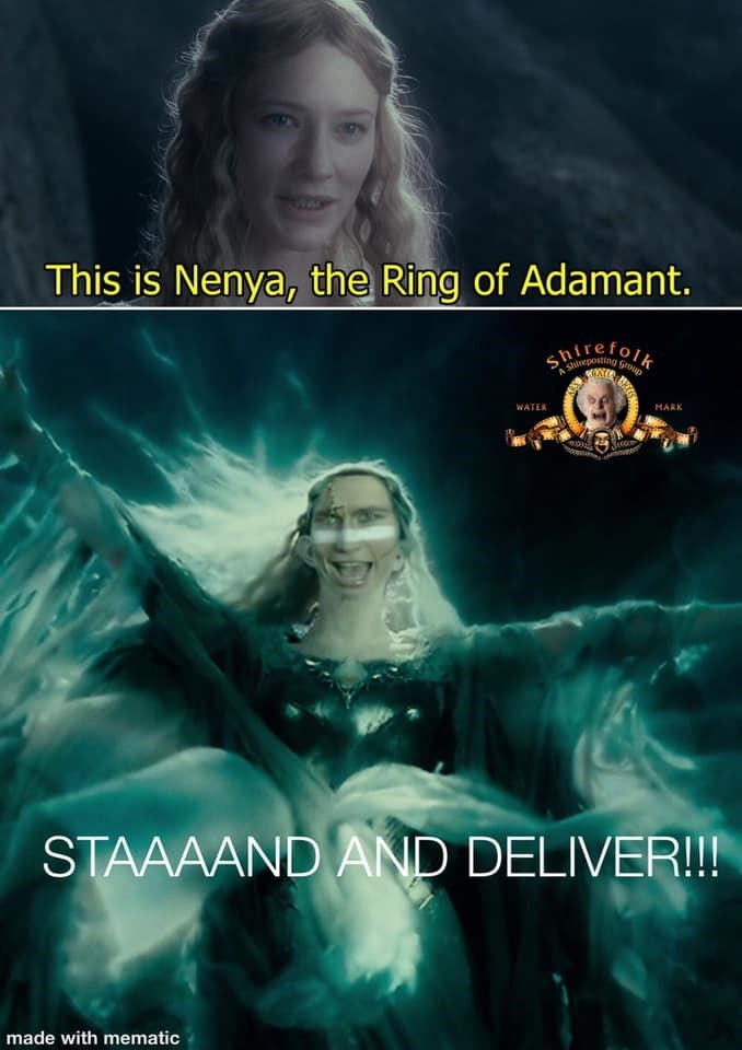 Flash photography - This is Nenya, the Ring of Adamant. WATER MARK STAAAAND AND DELIVER!!! made with mematic