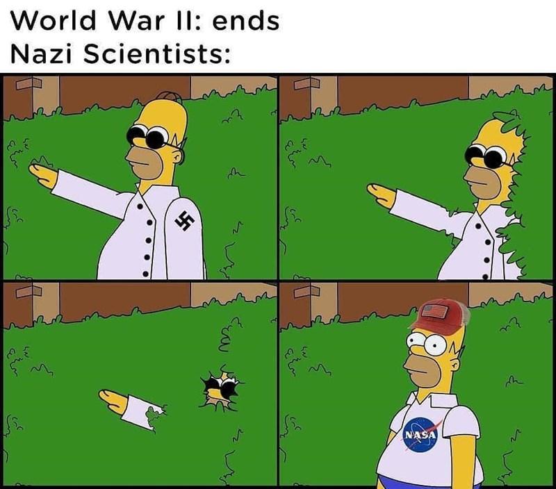 Cartoon - World War II: ends Nazi Scientists: 今 NASA