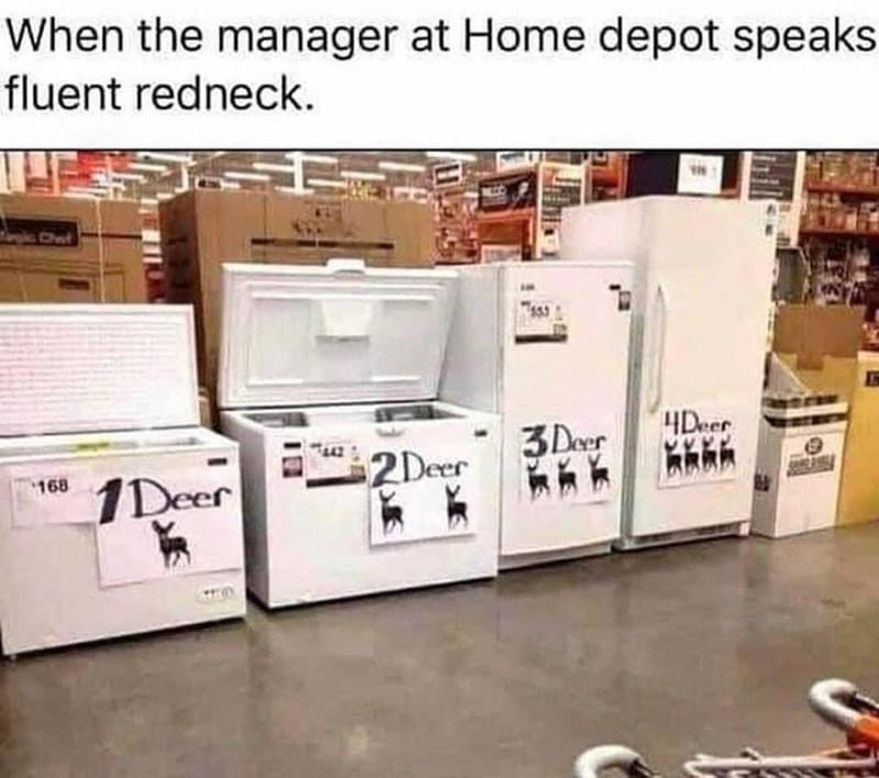 Interior design - When the manager at Home depot speaks fluent redneck. gic Chwt 3 Deer 4Deer 2Deer 168 1Deer