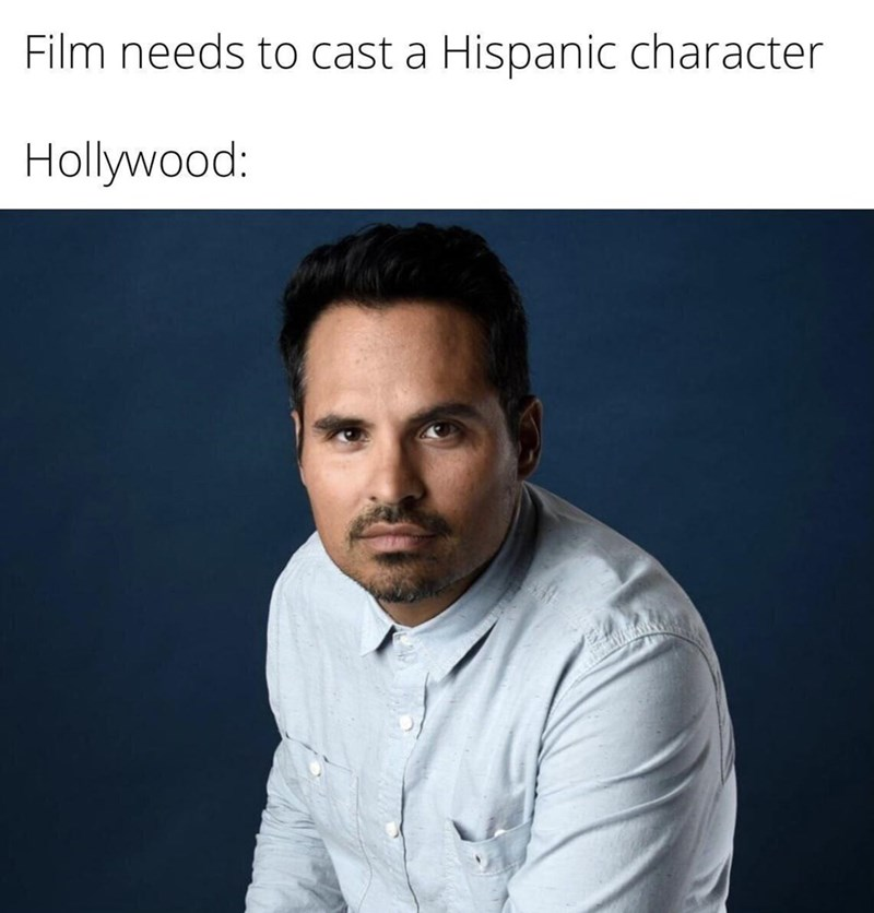 Forehead - Film needs to cast a Hispanic character Hollywood: