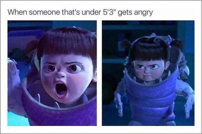 """Nose - When someone that's under 5'3"""" gets angry"""