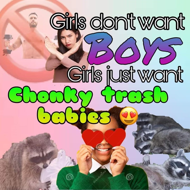 Human - Girls dont want BOYS Girls just want Ghonky trasb babies O dreamstime