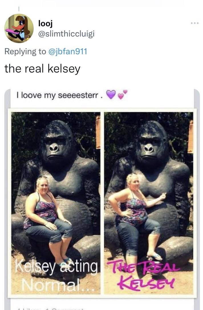 Photograph - looj @slimthiccluigi Replying to @jbfan911 the real kelsey I loove my seeeesterr. Kelsey actinal eAu Normal KELSY
