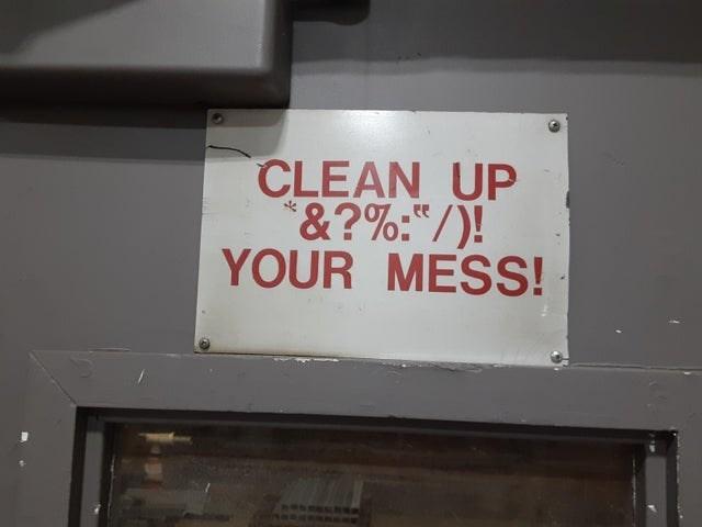"Automotive exterior - CLEAN UP *&?%:""/)! YOUR MESS!"