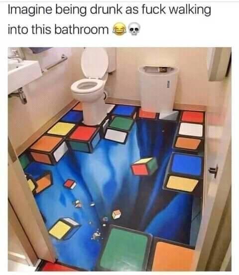 Interior design - Imagine being drunk as fuck walking into this bathroom