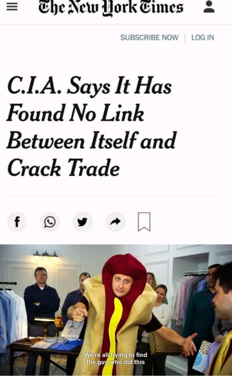 Clothing - The New York Times SUBSCRIBE NOW | LOG IN C.I.A. Says It Has Found No Link Between Itself and Crack Trade We're all trying to find the guy who did this