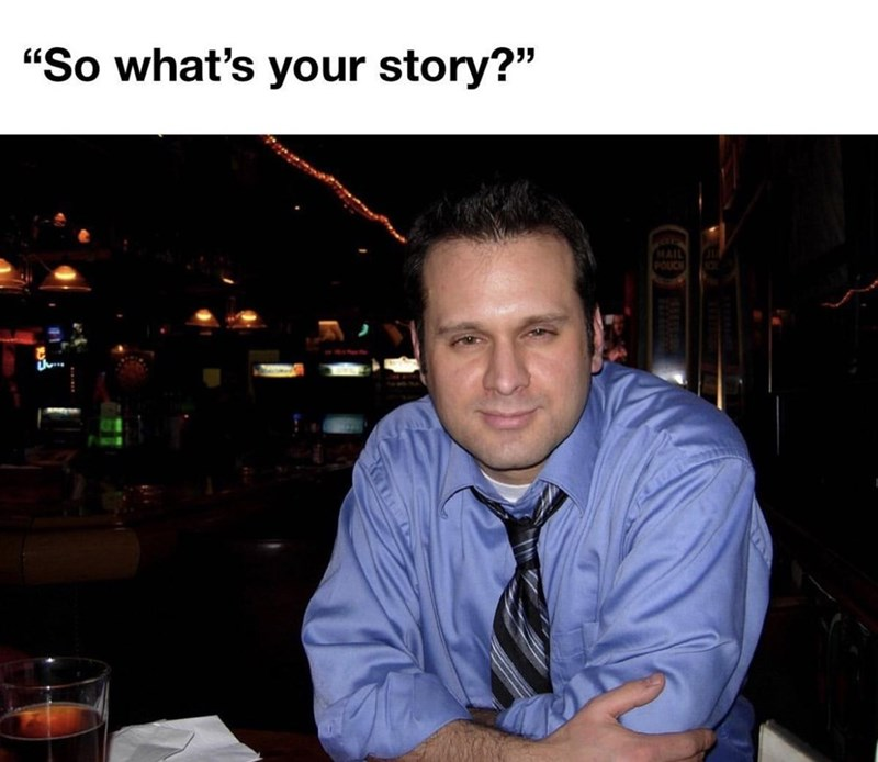 """Tableware - """"So what's your story?"""" MAIL POUCH"""