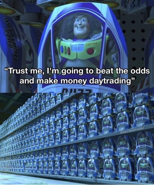 """Blue - OD0 LIGHTIRAR """"Trust me, l'm going to beat the odds and make money daytrading"""" terribletrader LIGHTYEAR"""