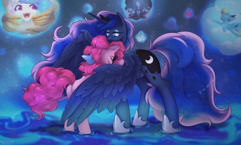 pinkie pie blue omlette princess luna - 9637361664