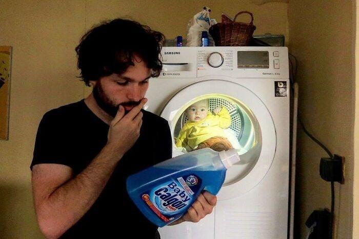 Laundry room - du SAMSUND Calgon Baby