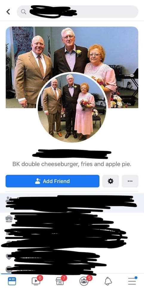 Clothing - BK double cheeseburger, fries and apple pie. Add Friend ..