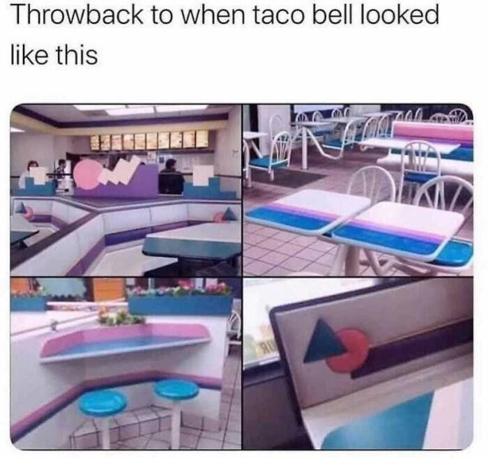 Product - Throwback to when taco bell looked like this