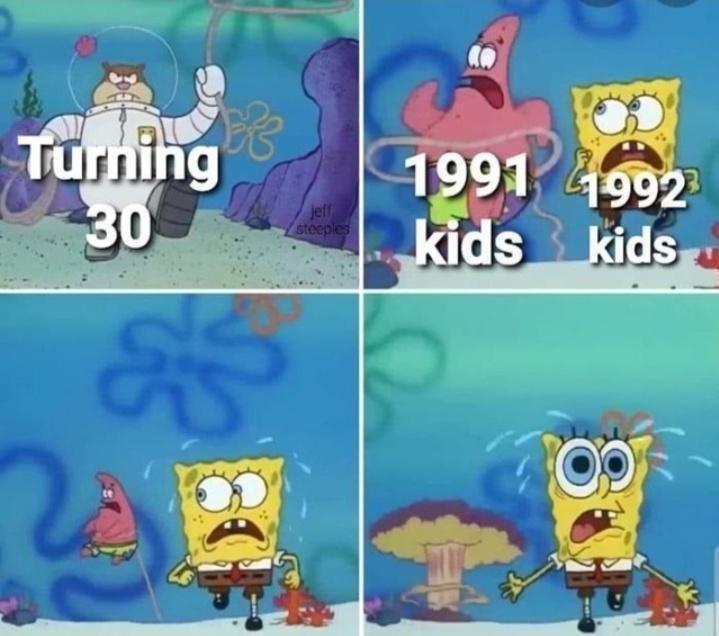 Cartoon - Turning 30 1991 1992 kids kids jeff steeples 80