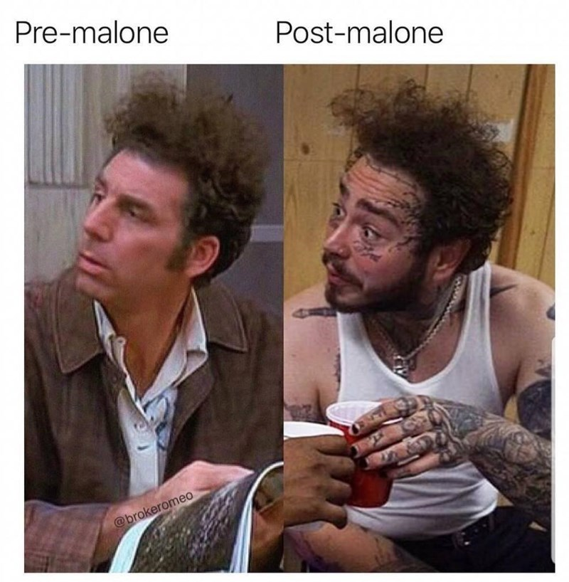 Hairstyle - Pre-malone Post-malone @brokeromeo