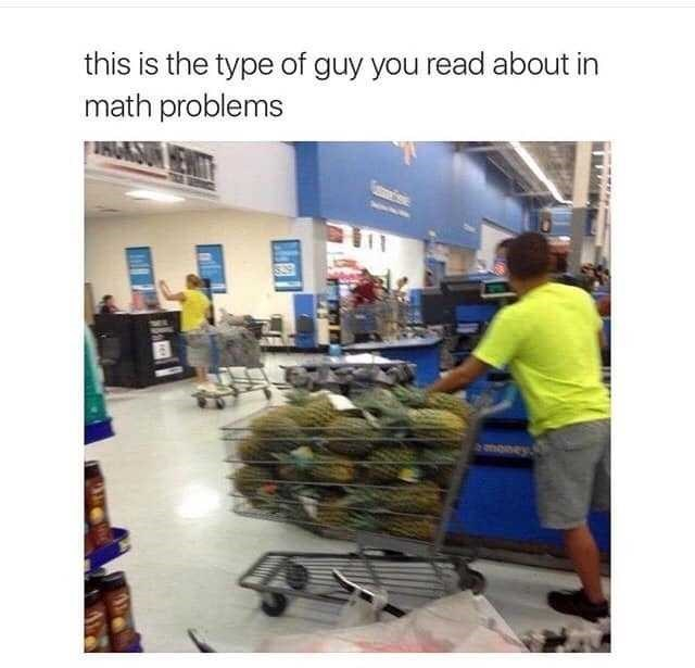 Product - this is the type of guy you read about in math problems money