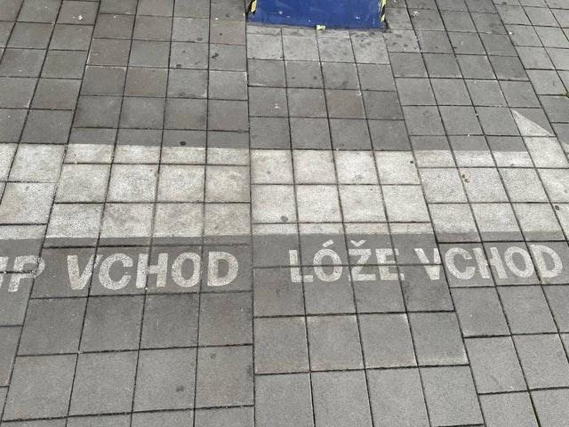 Road surface - F VCHOD LÓŽE VCHOD