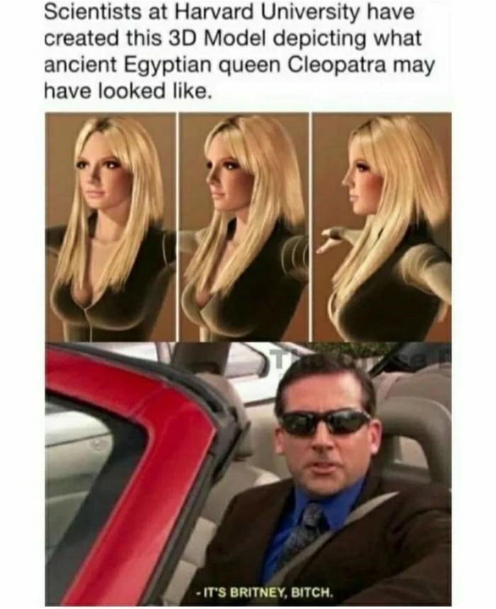 Clothing - Scientists at Harvard University have created this 3D Model depicting what ancient Egyptian queen Cleopatra may have looked like. - IT'S BRITNEY, BITCH.