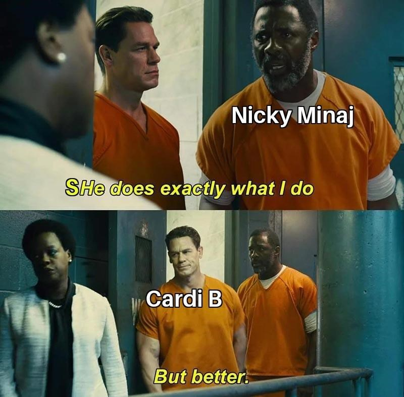 Forehead - Nicky Minaj SHe does exactly what I do Cardi B But better.