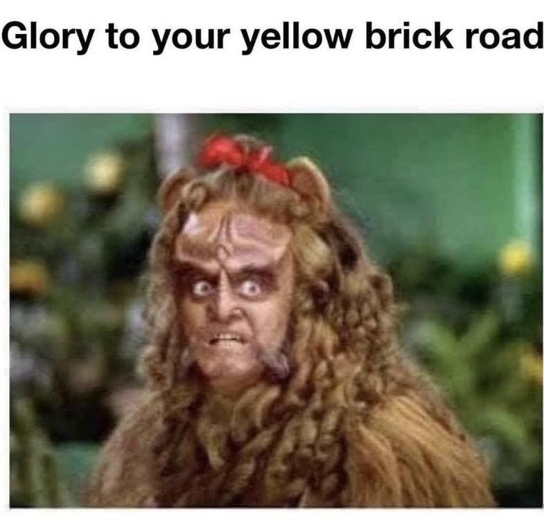 Facial expression - Glory to your yellow brick road