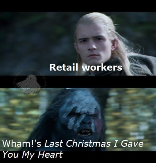 Flash photography - Retail workers Wham!'s Last Christmas I Gave You My Heart