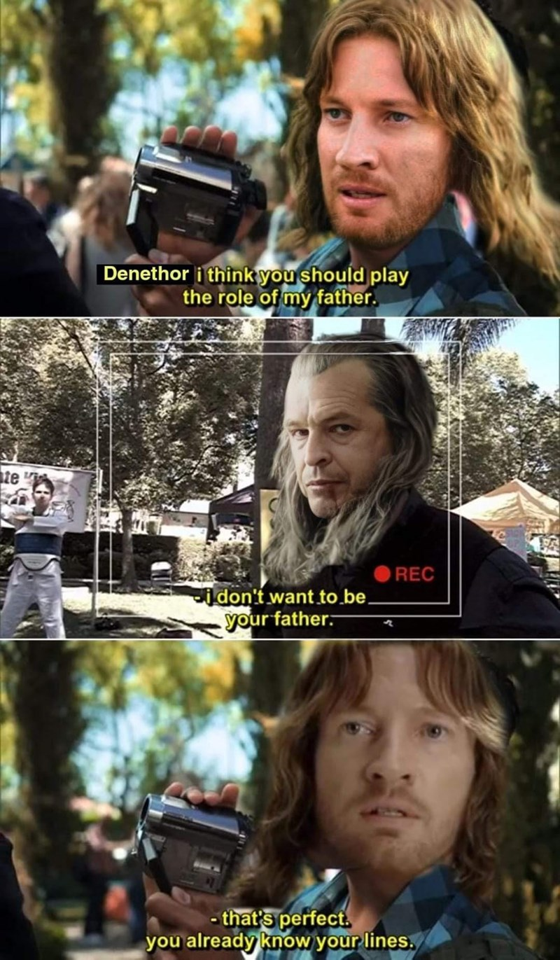 Hairstyle - Denethor i think you should play the role of my father. te REC idon't want to.be. your father. - that's perfect. you already know your lines.