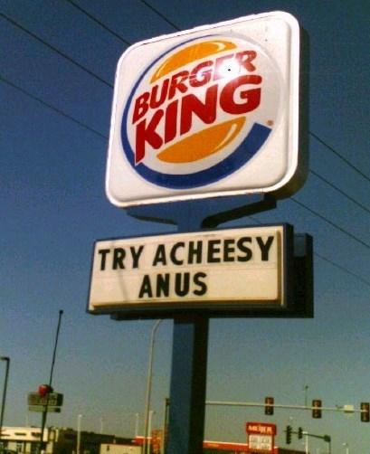 Sky - BURG R KING TRY ACHEESY ANUS MIER