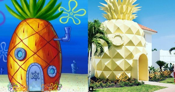 cartoons IRL,pineapple,SpongeBob SquarePants,cartoons,win