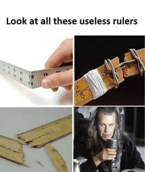 Hand - Look at all these useless rulers