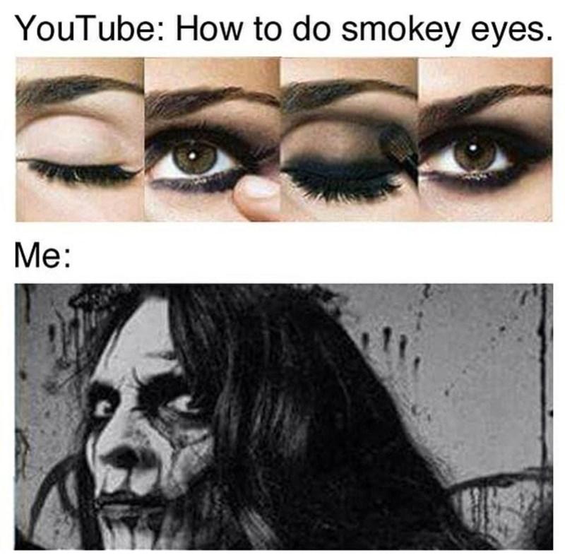 Forehead - YouTube: How to do smokey eyes. Me: