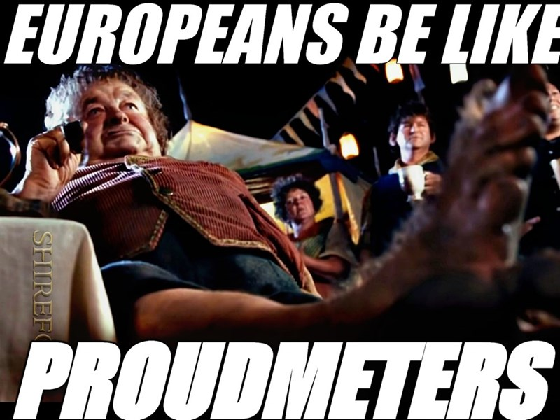 Font - EUROPEANS BE LIKE PROUDMETERS SHIREF