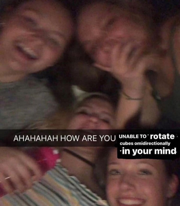 Forehead - AHAHAHAH HOW ARE YOU UNABLE TO rotate cubes omidirectionally | •in your mind