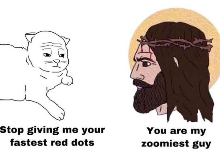 Hair - Stop giving me your You are my zoomiest guy fastest red dots