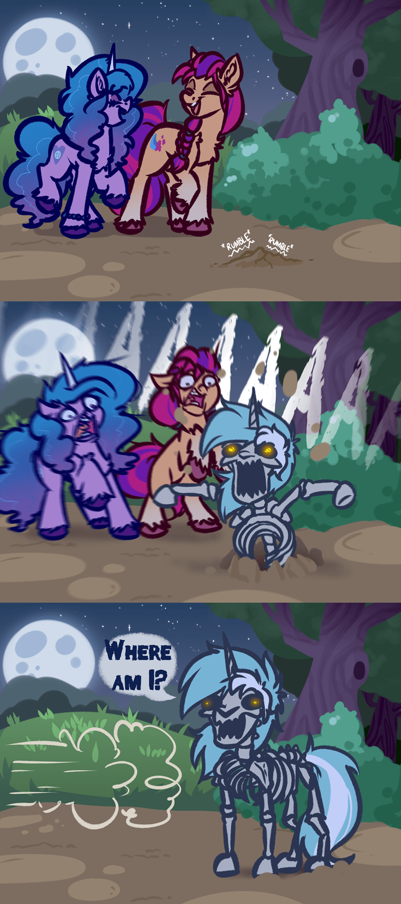 gen 5 sunny starscout halloween izzy moonbow witch taunter lyra heartstrings spooky scary skeletons - 9642303744