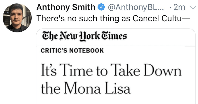 Controversial writing piece about the mona lisa, new york times, hot take, the louvre, museums