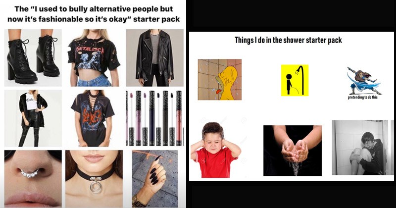 Funny and relatable starter pack memes