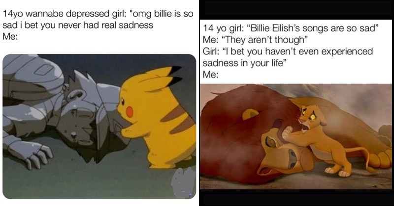 "Funny dank memes that roast Billie Eilish's ""sad"" music"