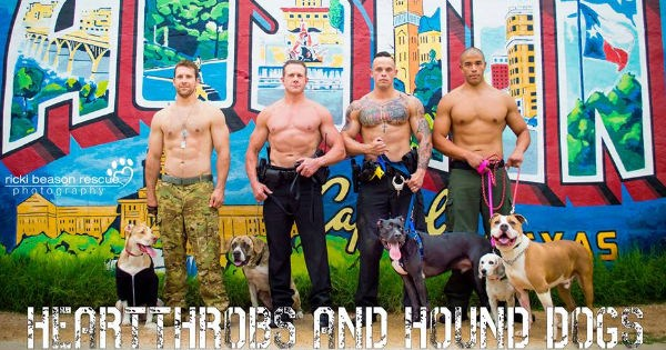dogs photography calendar texas hunks