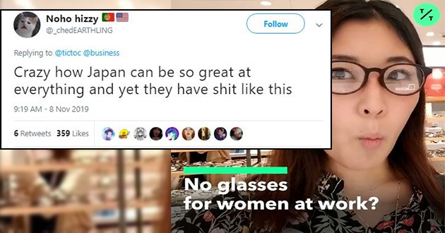 glasses japan sexism women