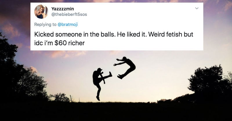 A collection of Twitter users share the weirdest things they've ever done for money.