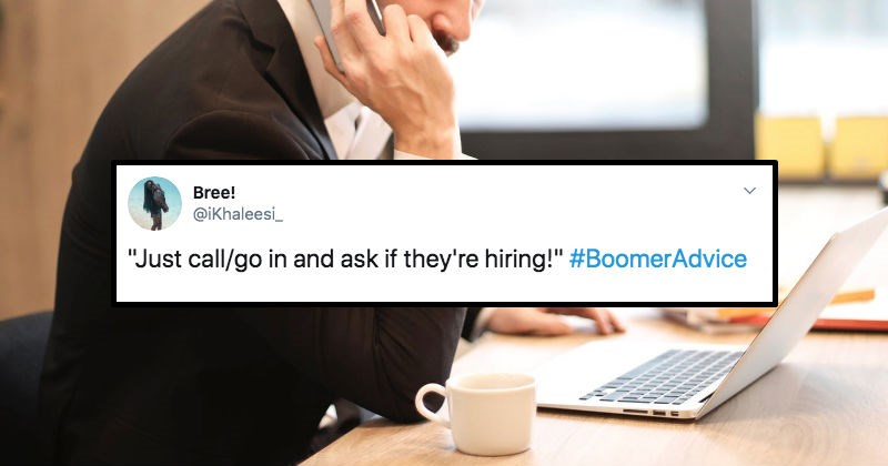Twitter users share various pieces of baby boomer advice that didn't age well.