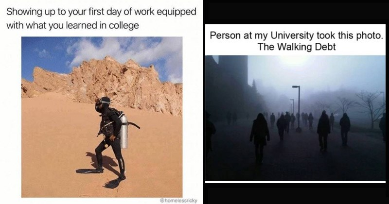 Funny memes about being in college